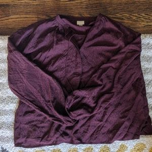 A New Day maroon blouse